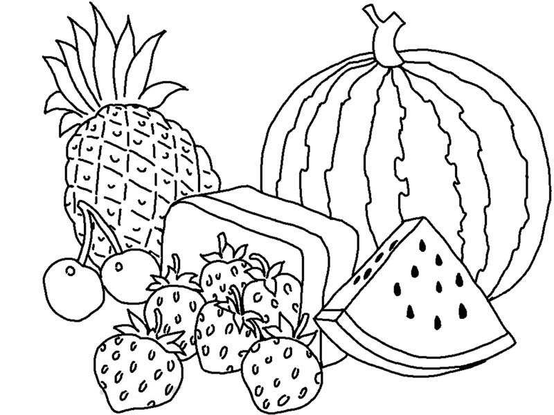 Drawn vegetables fruit and vegetable Good Fruits Fruit Fruits