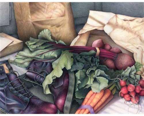 Drawn vegetables vegetable salad Print print Salad art life