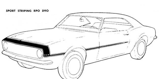 Drawn vehicle 69 camaro Stripe 1968 Camaro · late