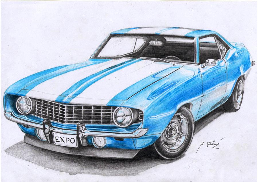 Drawn vehicle 69 camaro 1969 Design Design Mipo on