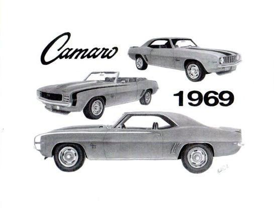 Drawn vehicle 69 camaro Art 1969 of Camaro camaro