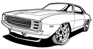 Drawn vehicle 69 camaro Of Collection clip 1969 Clipart