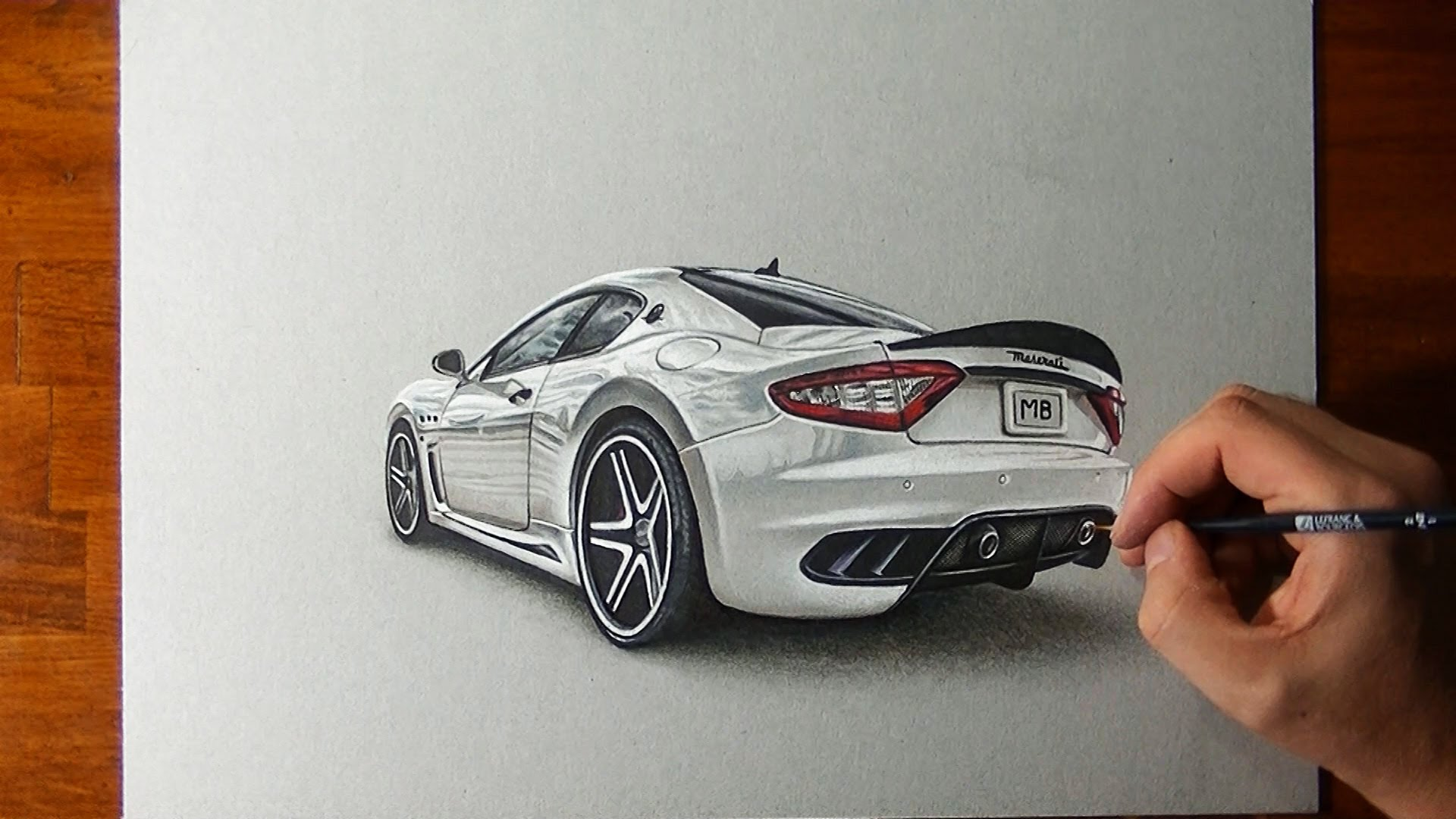 Drawn vehicle amazing car YouTube Granturismo Drawing Maserati Amazing