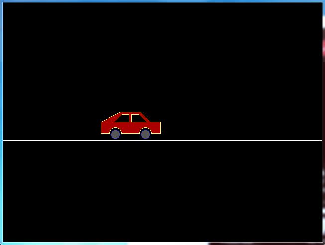 Drawn vehicle animated Car animation for moving Using