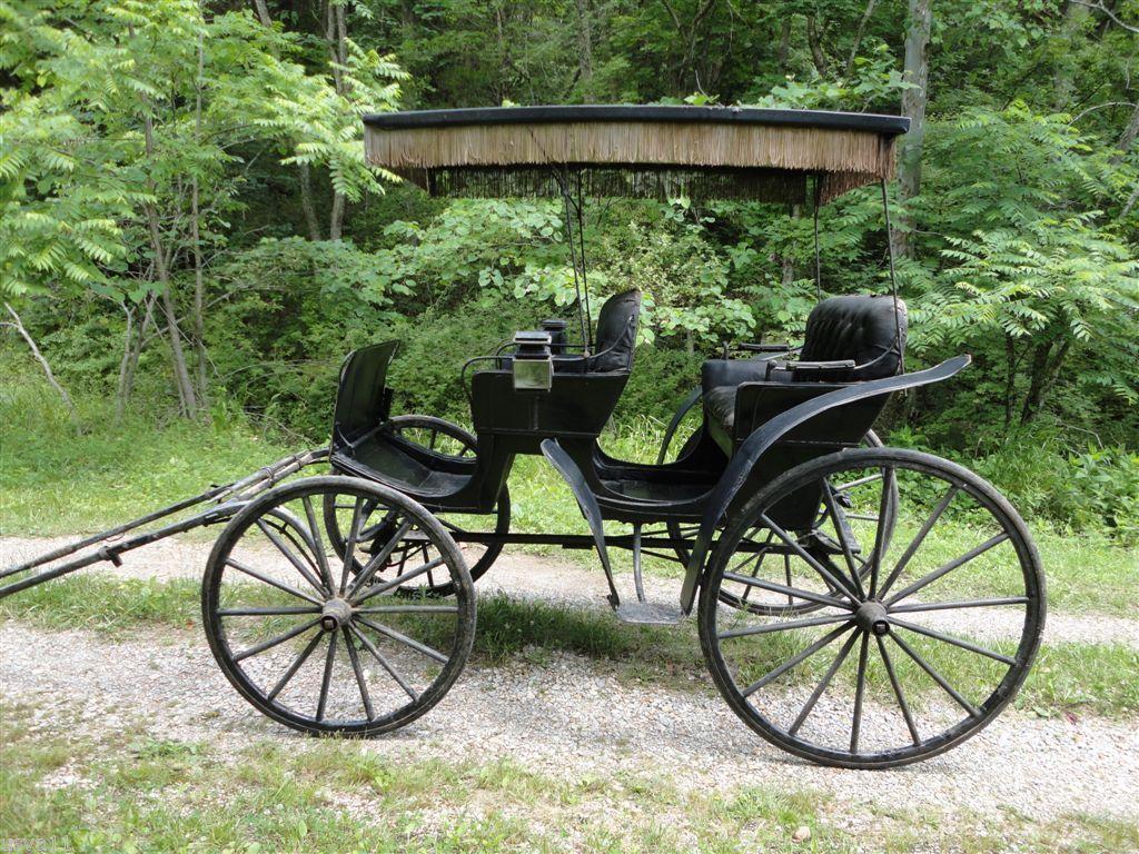 Drawn vehicle antique car Antique mier buggy cart fringe