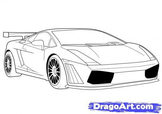Drawn vehicle awesome car Steps 8 Lamborghini Lamborghini