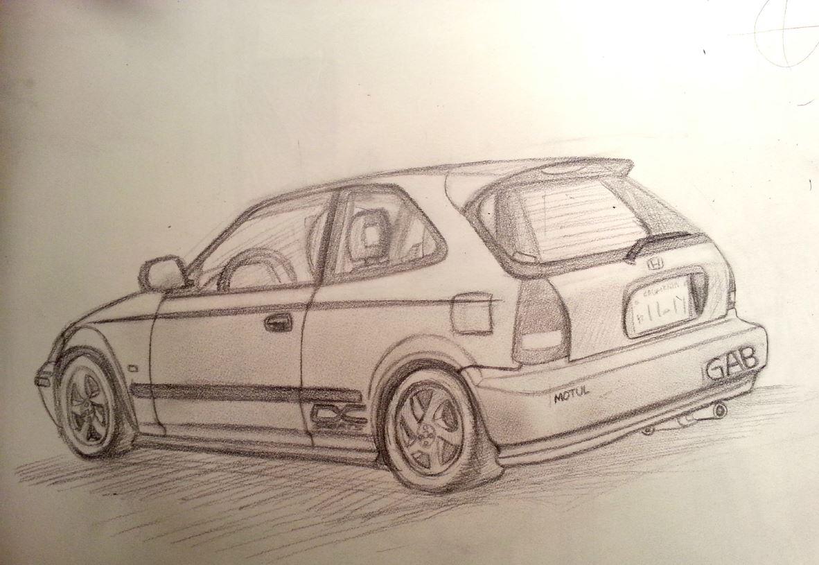 Drawn vehicle awesome car Awesome drawings EK4 community car