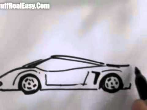 Drawn vehicle awesome car To YouTube How car(easy) How