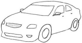 Drawn vehicle awesome car Outline Car Car Drawings Pencil