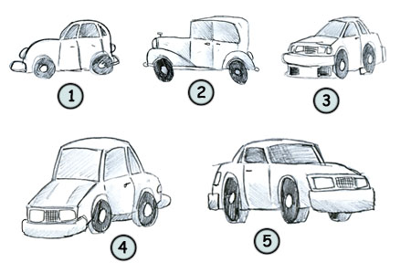Drawn vehicle basic Step how to 4 draw