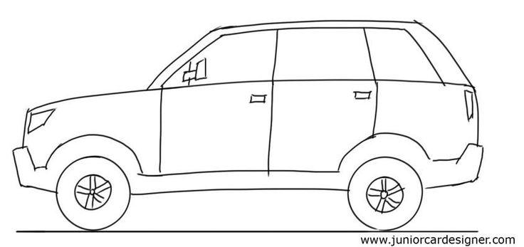 Drawn vehicle basic Side and Car Kids Car