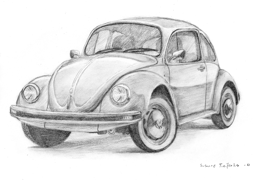 Drawn vehicle beetle DeviantArt Beetle car on by