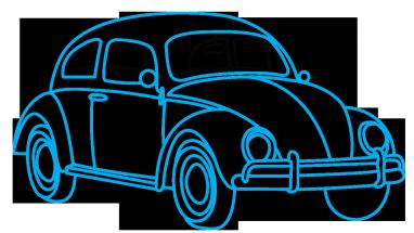 Drawn vehicle beetle Step by Beetle Easy Vintage