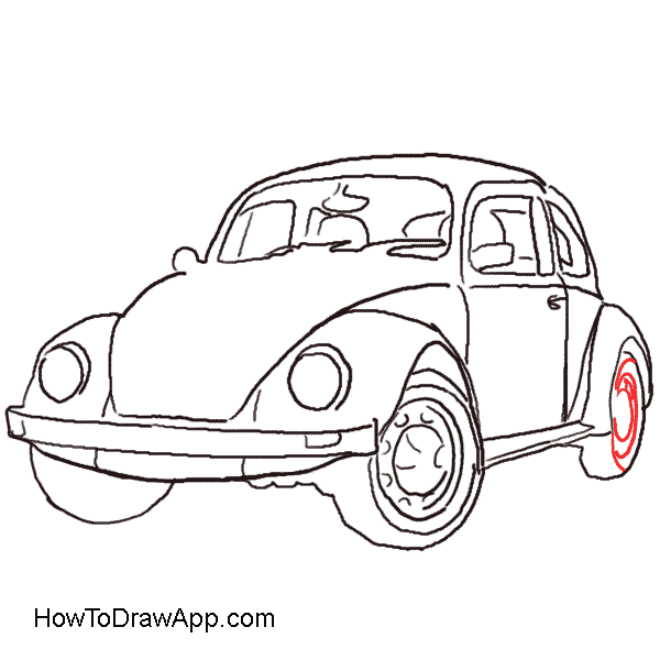 Drawn vehicle beetle Old an How to draw