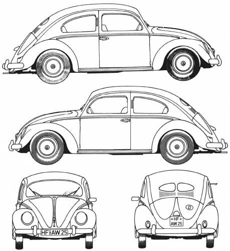 Drawn vehicle beetle Art (1952) Pinterest  Ad