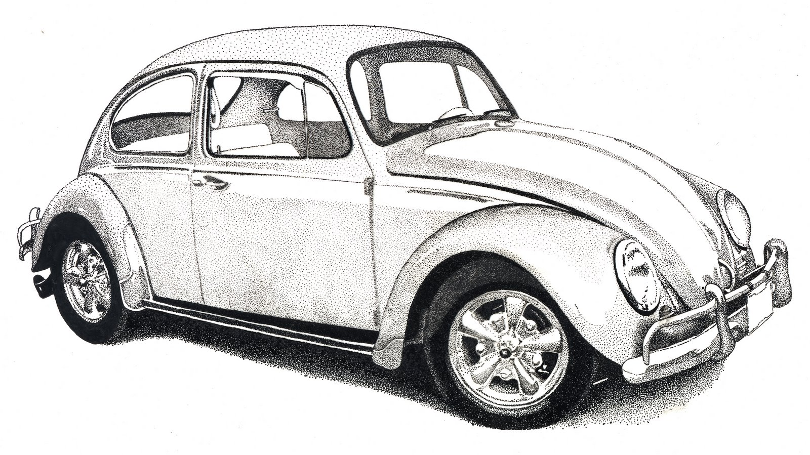Drawn vehicle beetle Drawing VW Beetle Pencil Realistic