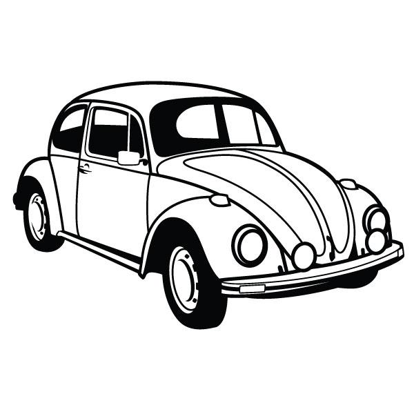 Drawn vehicle beetle By Vector @DeviantArt adesivo vw