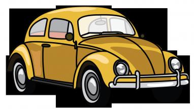 Drawn vehicle beetle 8 step Beetle a Car