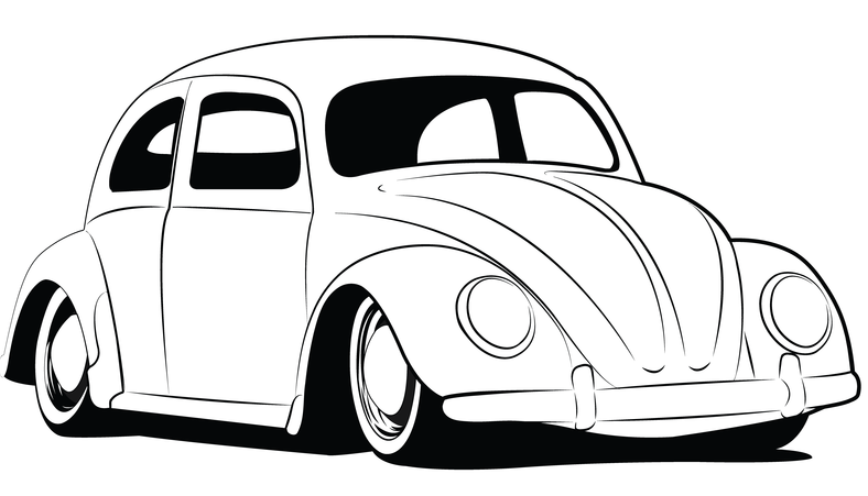 Drawn vehicle beetle Vw pages beetlebank · Vw