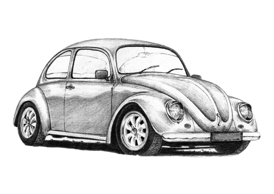 Drawn vehicle beetle By Style on Beetle VW