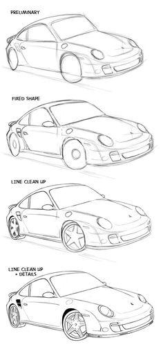 Drawn vehicle beginner Car car How Dodge to