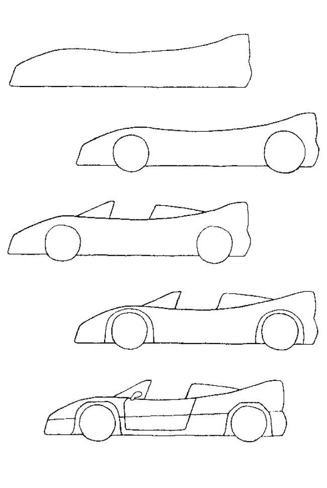 Drawn race car simple To draw Tutorials cars Pinterest