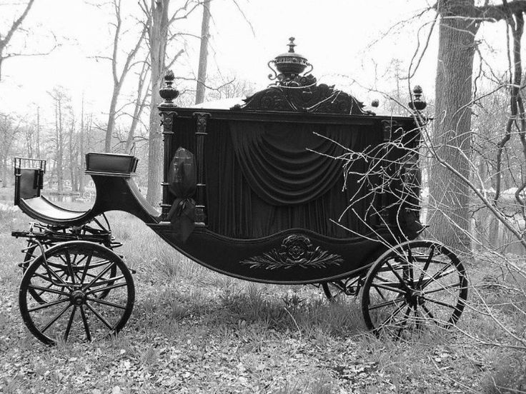Drawn vehicle black and white Drawn Hearses) images Carriage 277