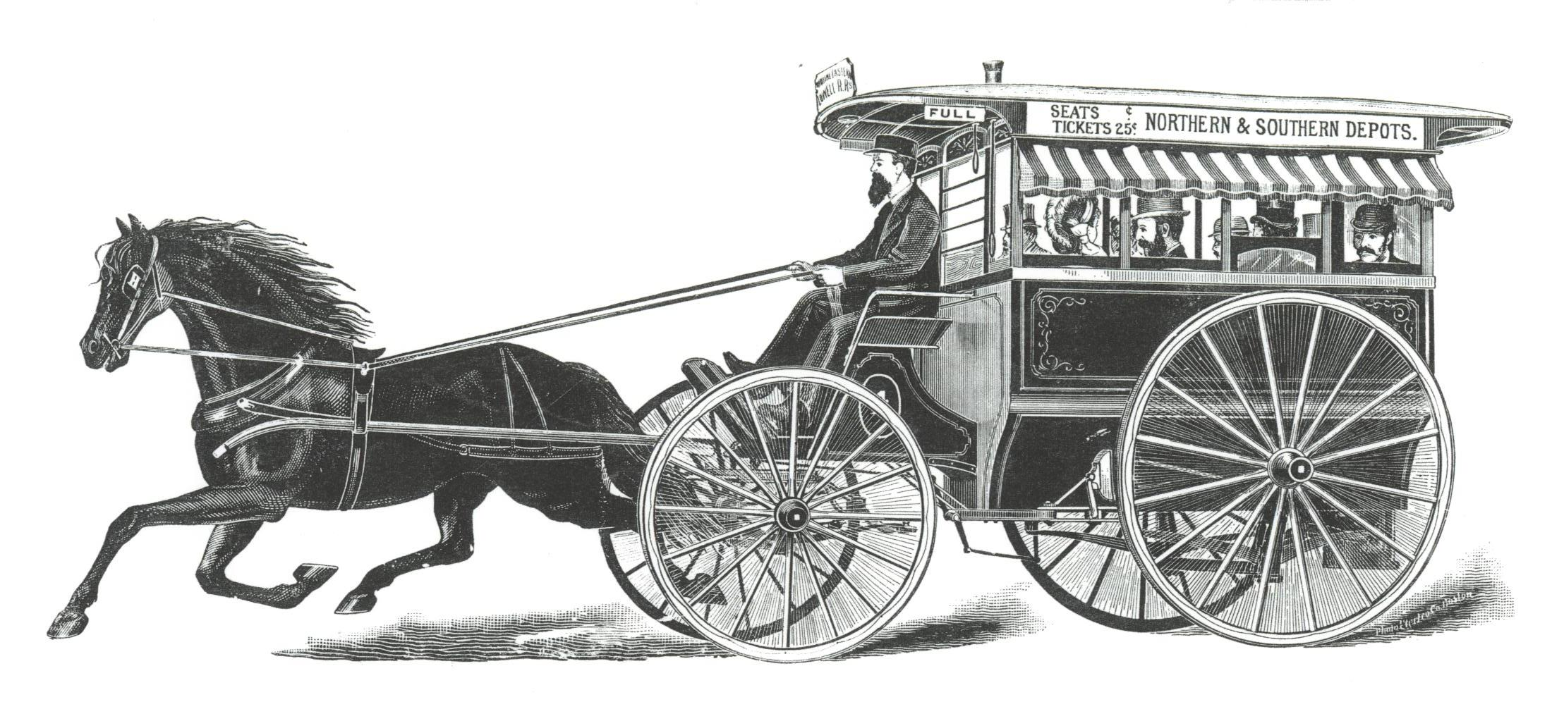 Drawn vehicle black and white Window openings on image four