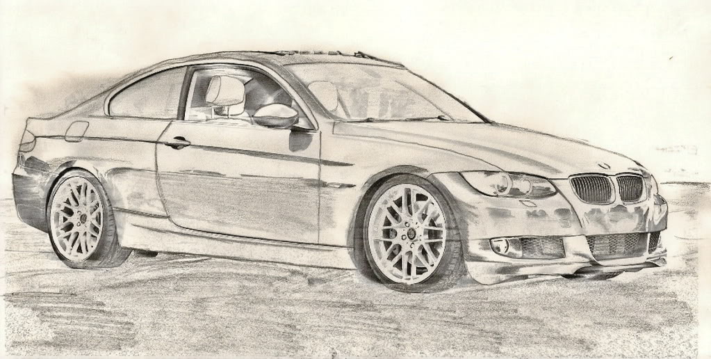 Drawn vehicle bmw Of me post here up