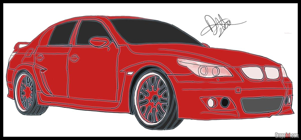 Drawn vehicle bmw Step to m5 to How