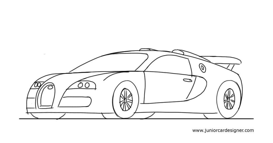 Drawn amd bugatti Bugatti Junior Sports Car: To