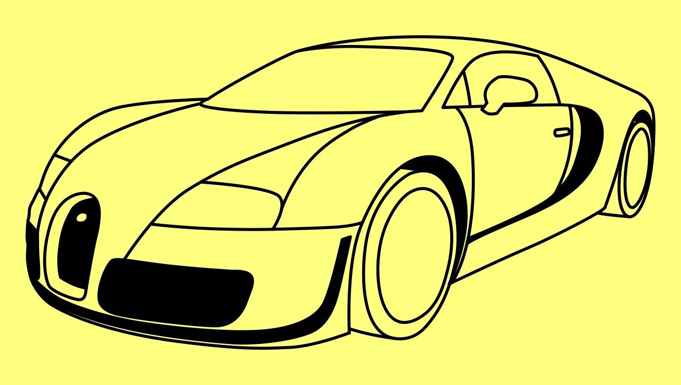 Drawn amd bugatti Car How draw a Вейрон