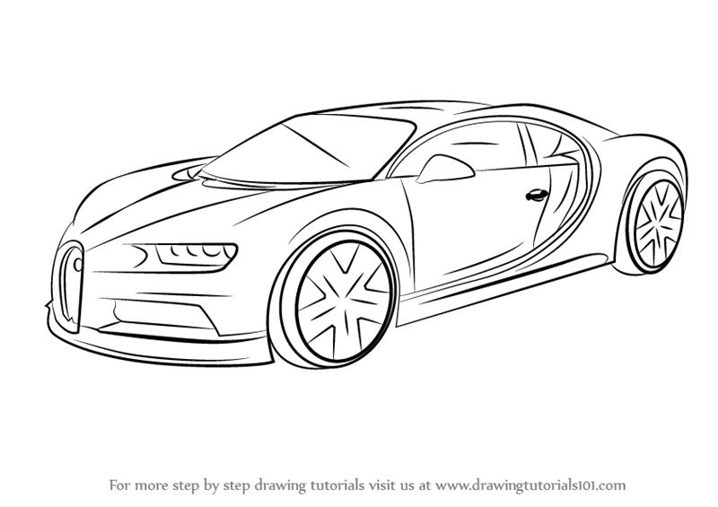 Drawn amd bugatti How by How Chiron Step