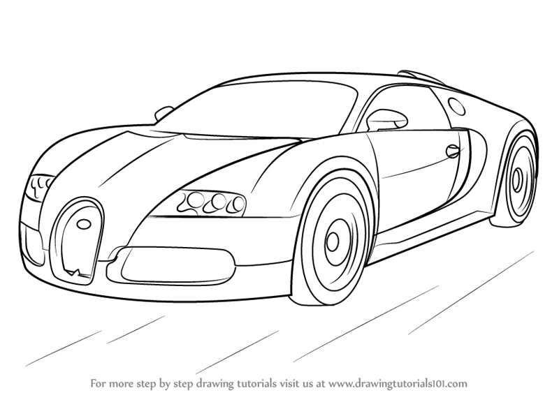 Drawn vehicle bugatti veyron Veyron by (Sports Step Step
