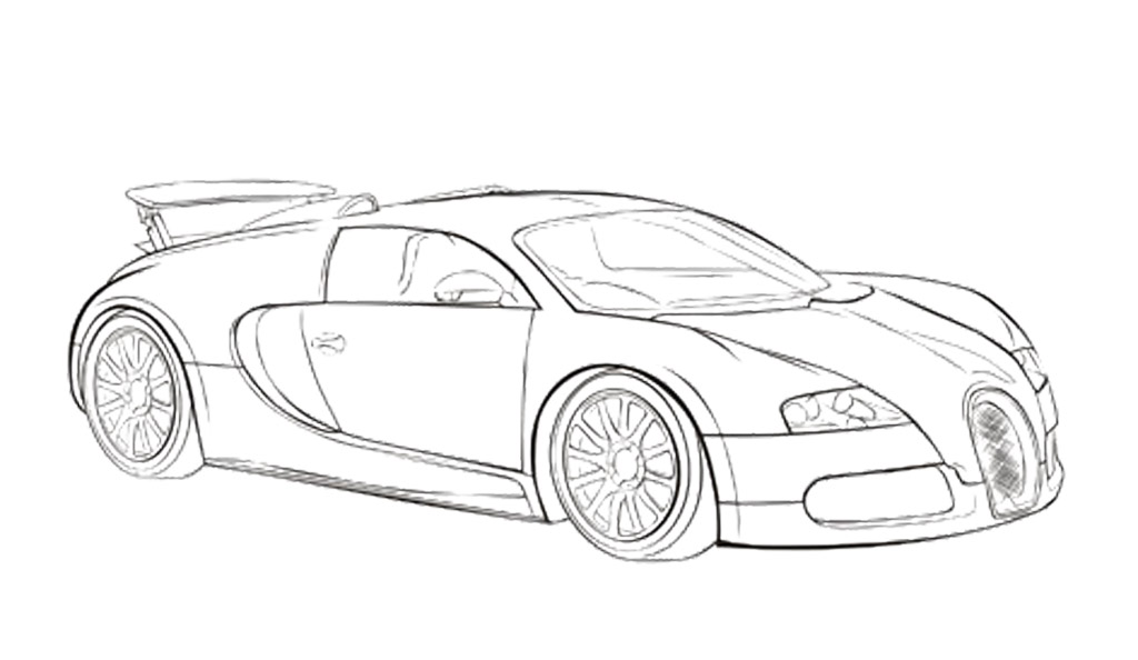 Drawn vehicle bugatti veyron Coloring Pages Page  Coloring