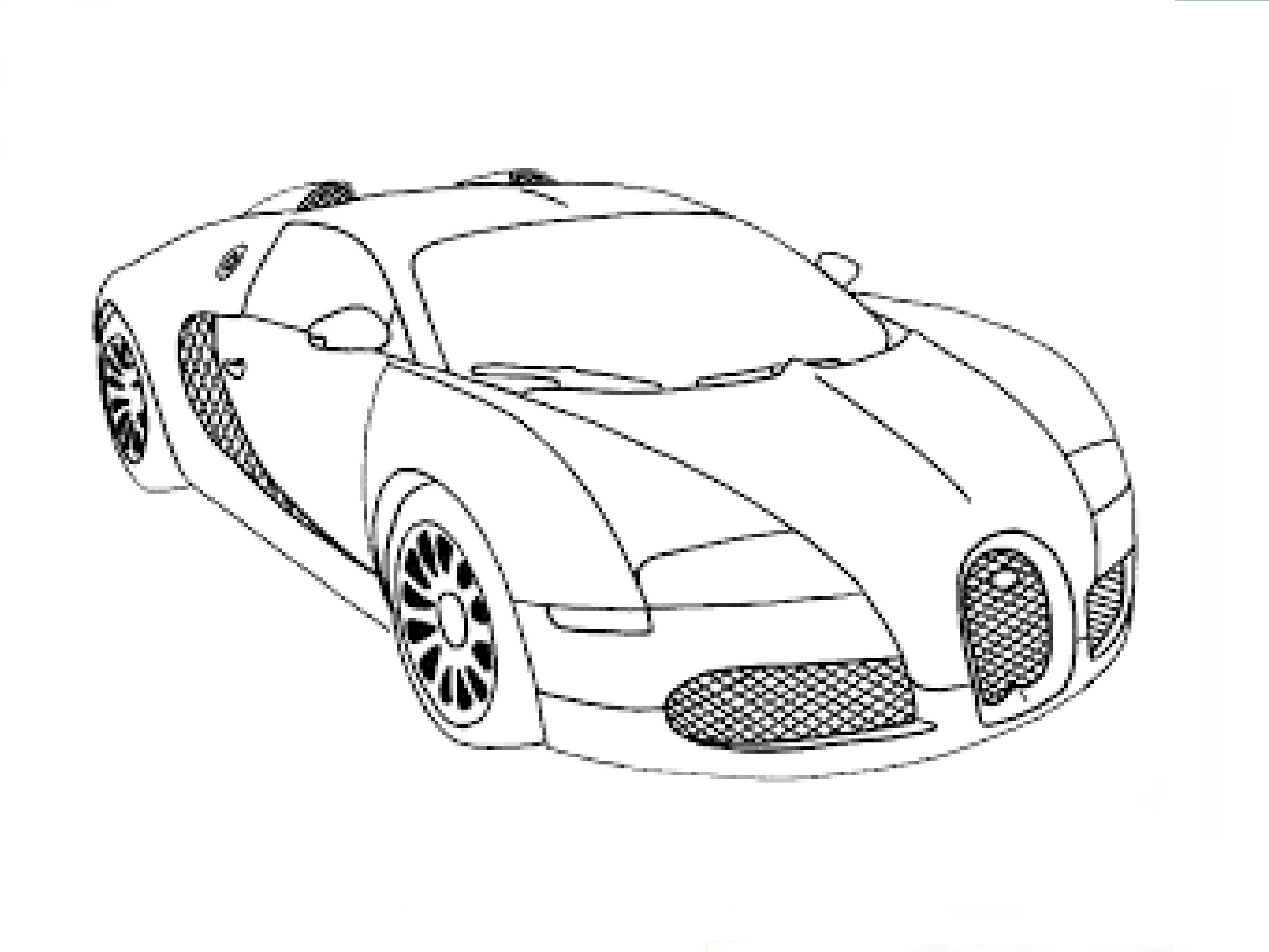 Drawn vehicle bugatti veyron /  / drawing: Быстрое