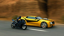 Drawn vehicle bumblebee The Drive Transformers on side