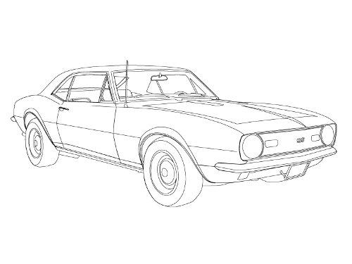 Drawn vehicle camaro Drawings car 1967 Camaro to