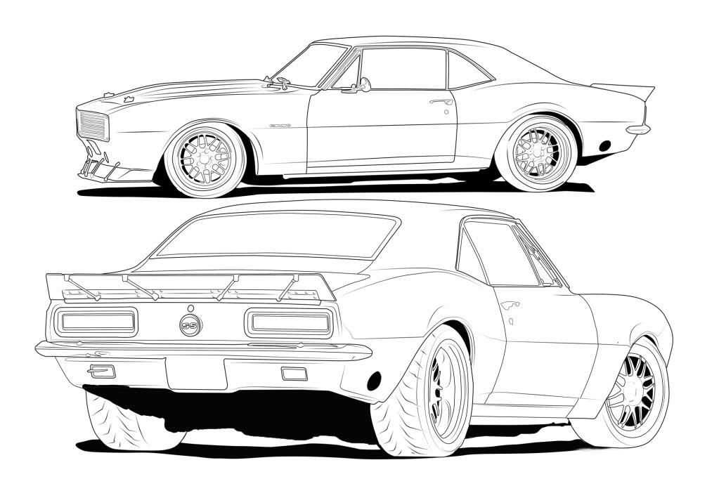 Drawn vehicle camaro Camaro 67 how draw to