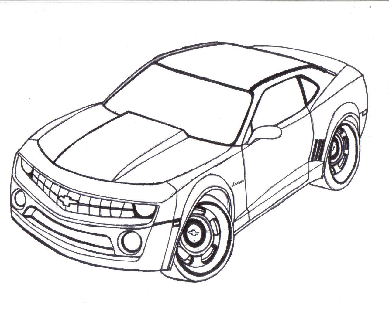 Drawn vehicle camaro And Black Camaro And White
