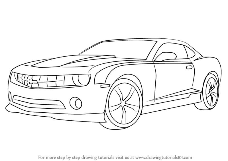 Drawn vehicle camaro ss Tutorials Learn Step Drawing Step