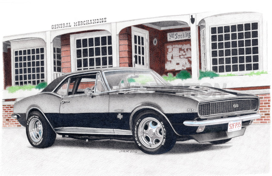 Drawn vehicle camaro ss 1967 DeviantArt Camaro musclecarfan4life musclecarfan4life