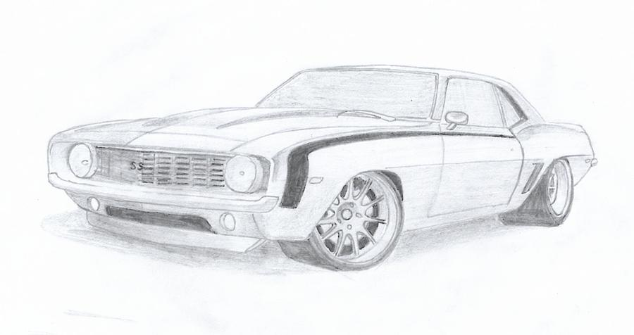 Drawn vehicle camaro ss Car Leslie Schofield by Drawing