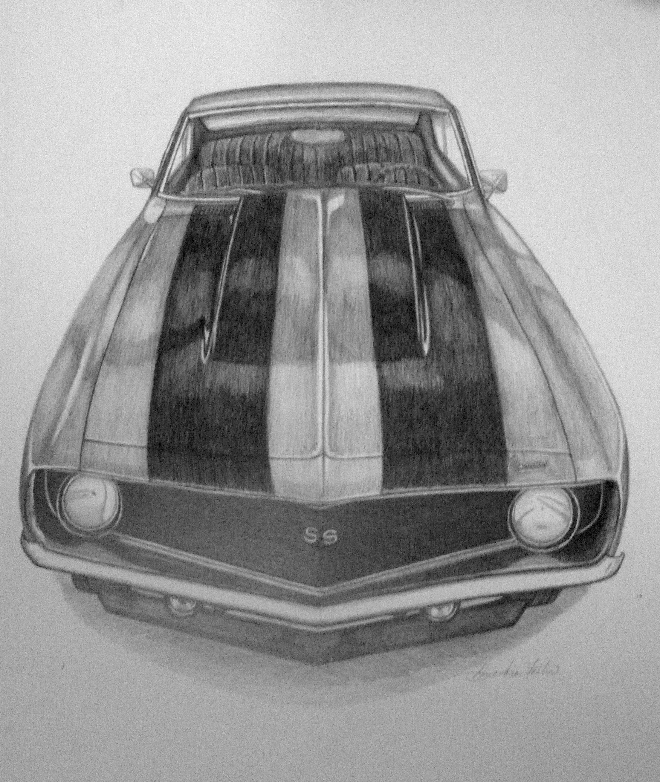 Drawn vehicle camaro ss Board Original on bristol sale!