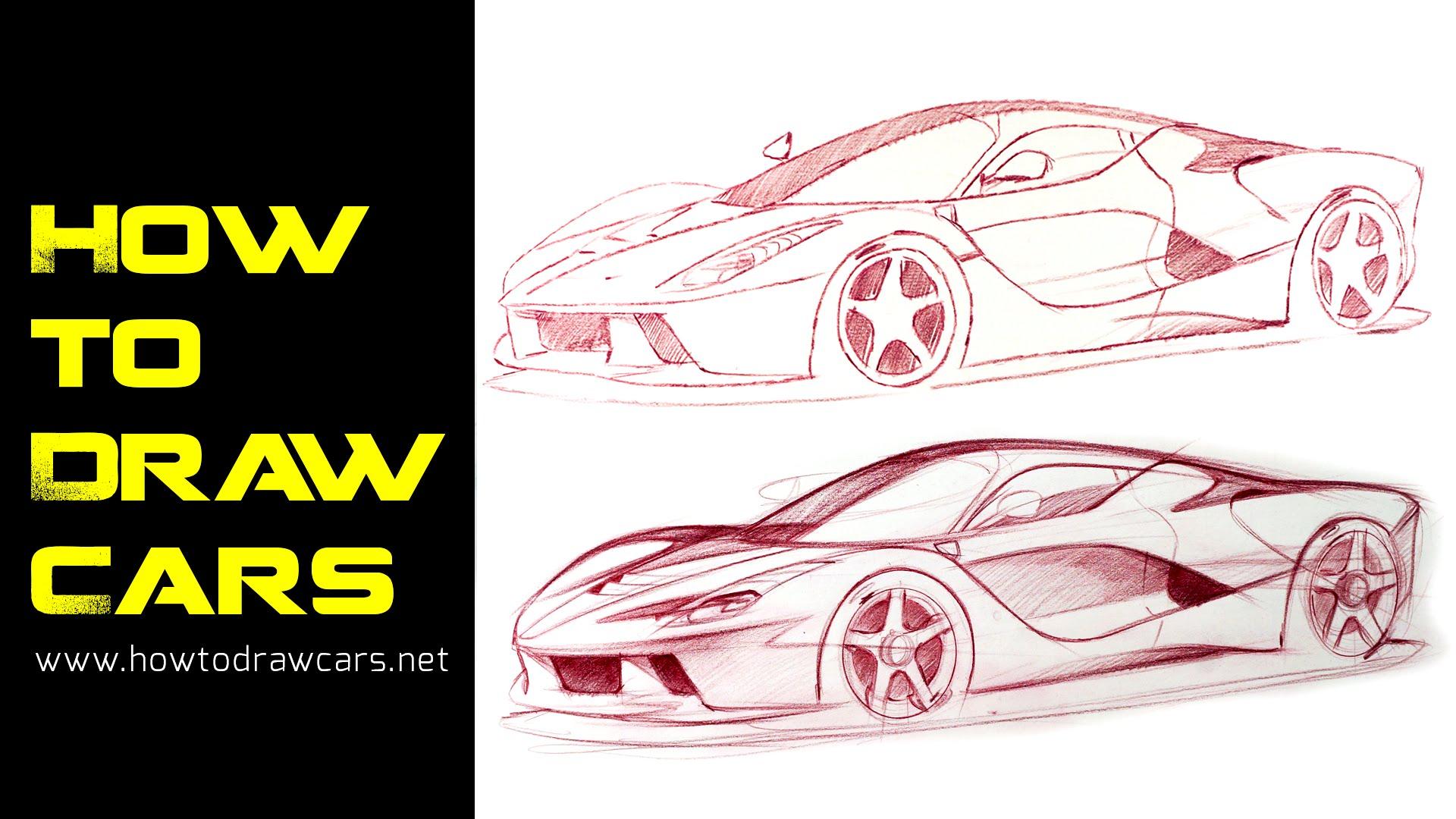 Drawn vehicle car design Pt 1 Secrets Design Drawings