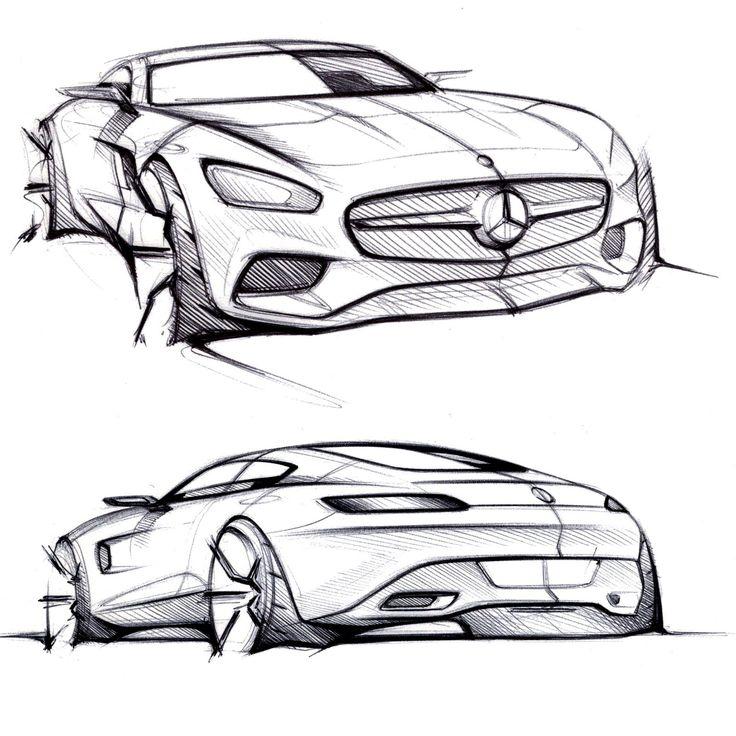 Drawn vehicle car design Design Design AMG Pinterest ideas