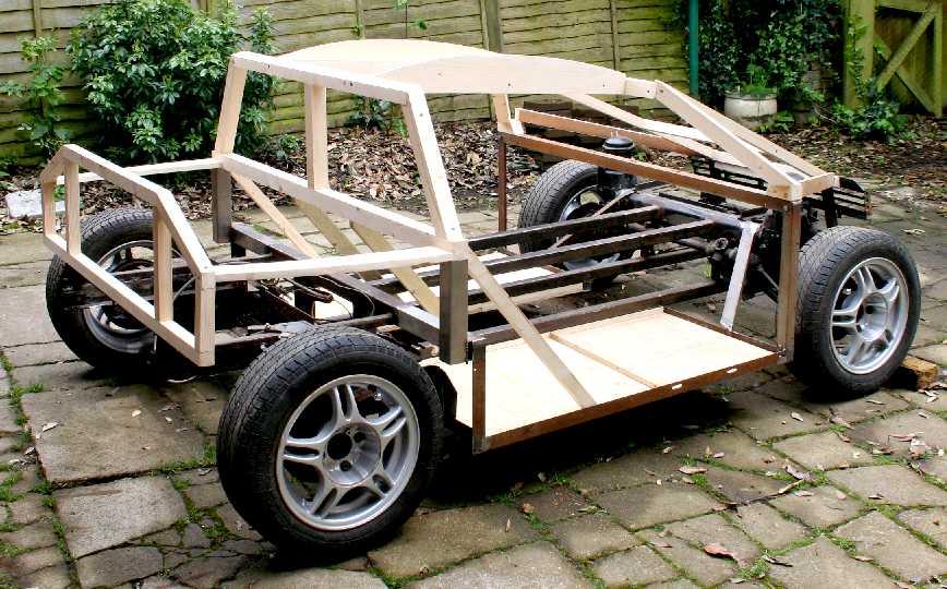 Drawn vehicle car frame CITY CAR COACH DIY