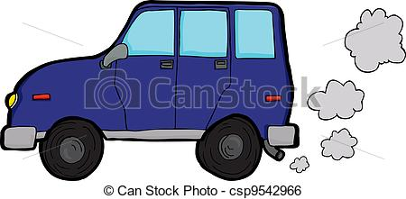 Drawn vehicle car pollution  Vehicle Generic Polluting utility