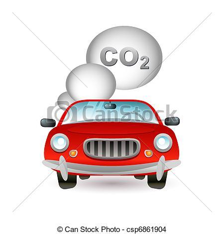 Drawn vehicle car pollution Stock pollution icon Art Illustration
