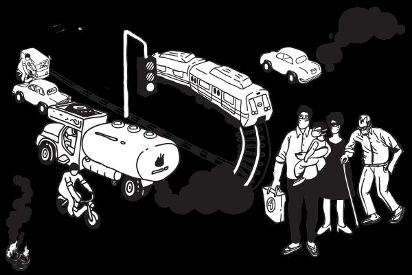 Drawn vehicle car pollution  Pollution Electric Car e2oPlus
